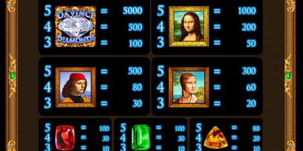 Da Vinci Diamonds MCPcom IGT pay2