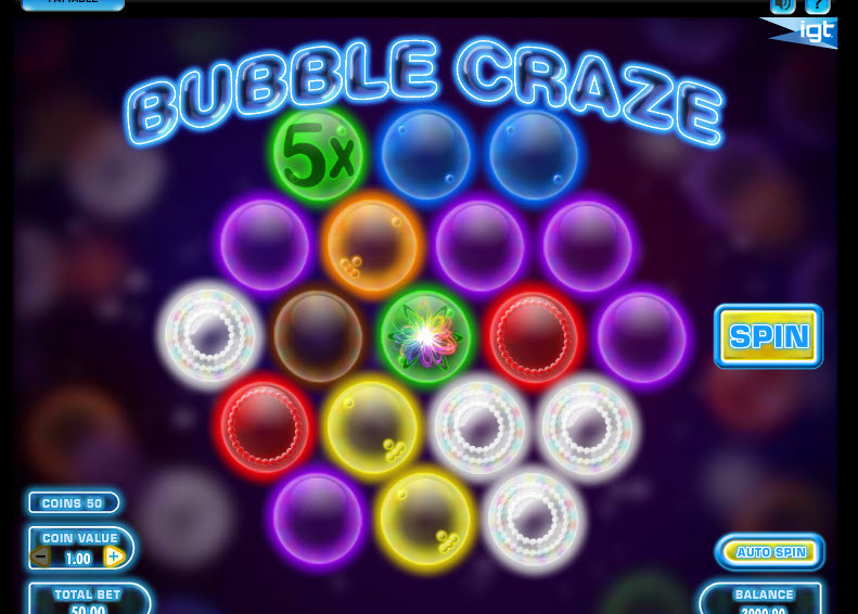 Bubble Craze MCPcom IGT