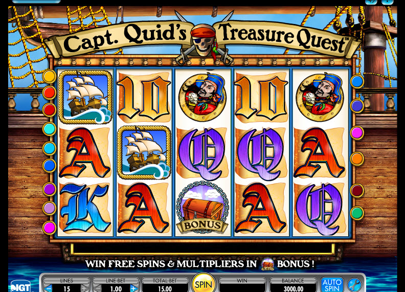 Capt Quid's Treasure Quest MCPcom IGT