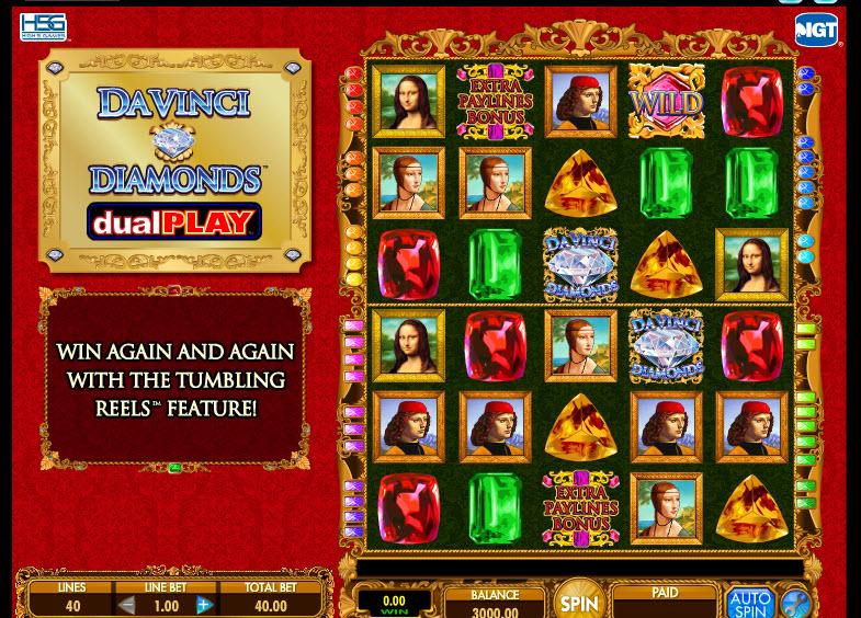 Da Vinci Diamonds – Dual Play MCPcom IGT