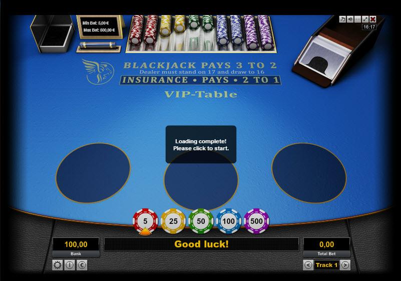 Black Jack Vip-Table MCPcom KGR Entertainment