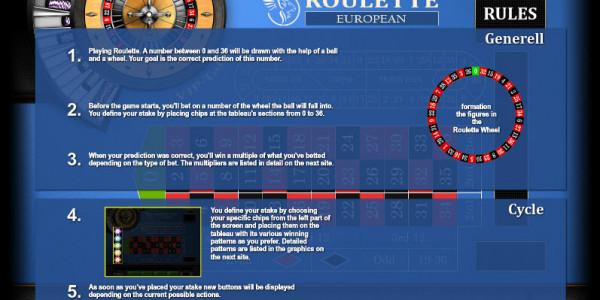 Roulette European Vip MCPcom KGR2
