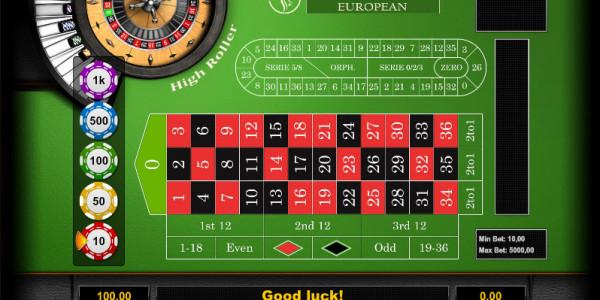 Roulette European High Roller MCPcom KGR