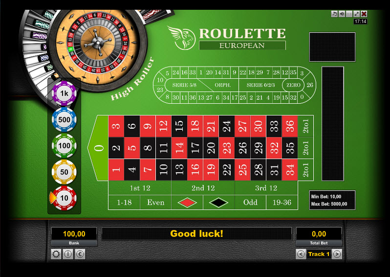 Roulette European High Roller MCPcom KGR