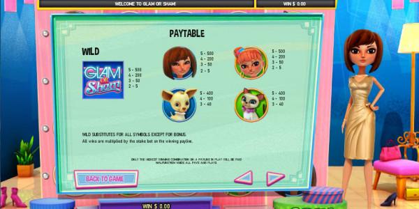 Glam Or Sham MCPcom Leander Games pay