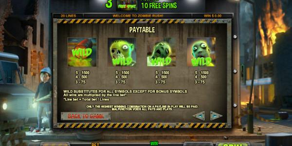 Zombie Rush MCPcom Leander Games pay