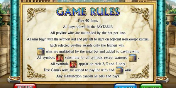 Golden Rome MCPcom Leander Games pay