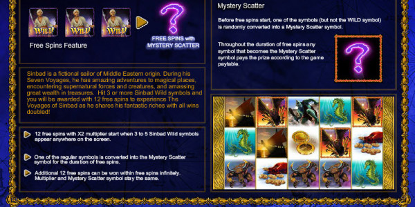 The Voyages's Sinbad MCPcom Leander Games pay2