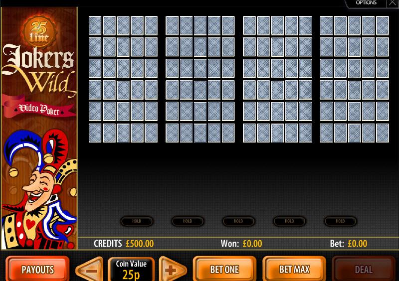 25 Line Jokers Wild MCPcom Multislot