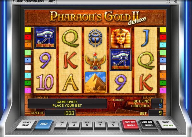 Pharaon's Gold II Deluxe MCPcom Novomatic