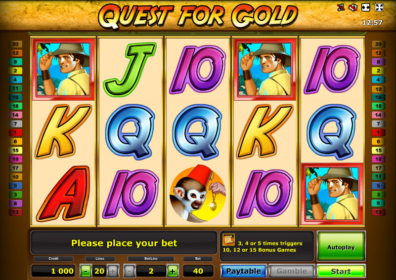 Quest for Gold MCPcom Novomatic