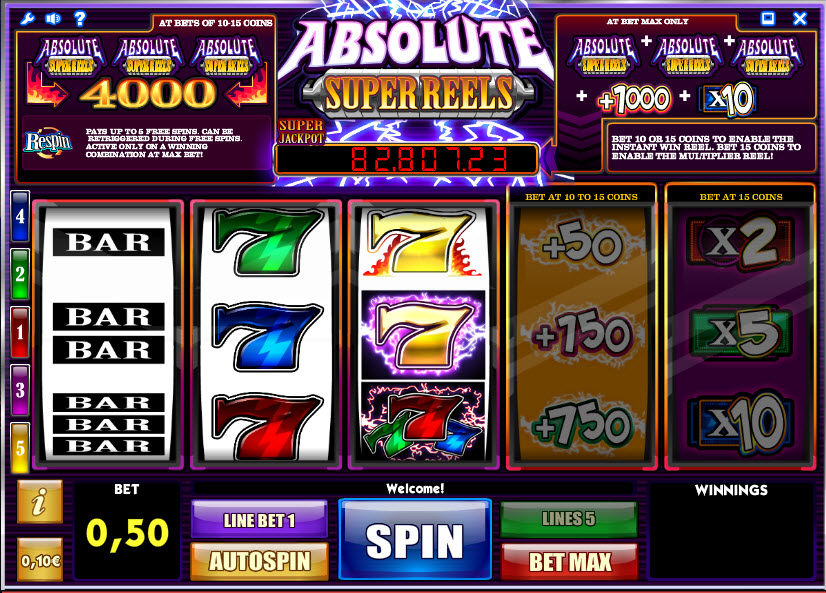 Absolute Super Reels MCPcom iSoftBet