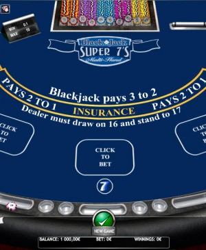Blackjack Multihand Super Seven MCPcom iSoftBet