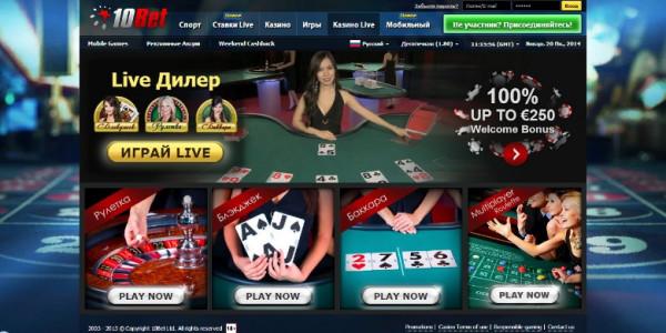 10Bet Casino MCPcom games2