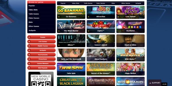 Redbet Casino MCPcom games