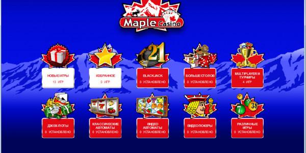 Maple Casino MCPcom games
