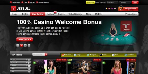 Jetbull Casino MCPcom home