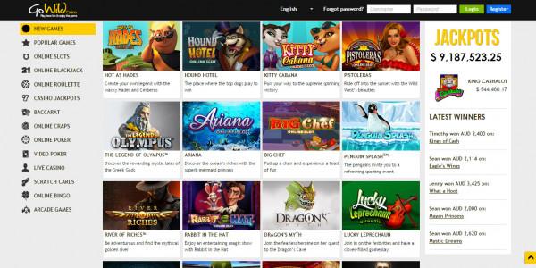 GoWild Casino MCPcom games