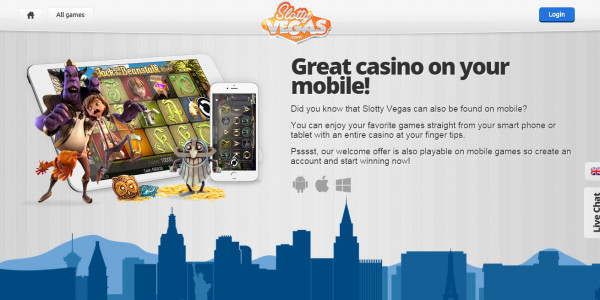Slotty Vegas MCPcom mobile