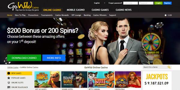 GoWild Casino MCPcom bonuses home
