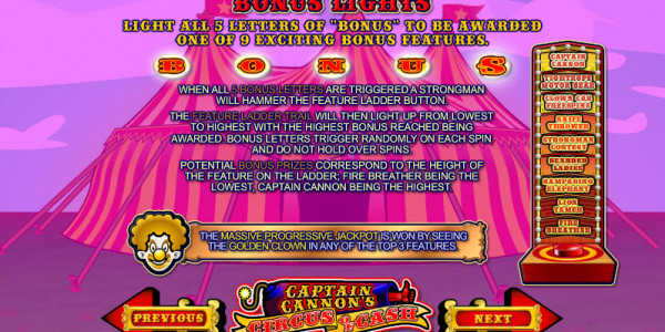 Captain Cannon's Circus of Cash MCPcom Ash Gaming pay2
