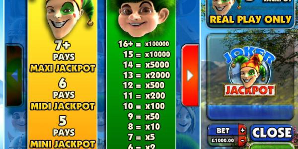 Joker Jackpot MCPcom Big Time Gaming pay
