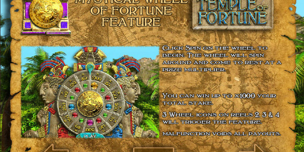 Temple Of Fortune  MCPcom Big Time Gaming pay2