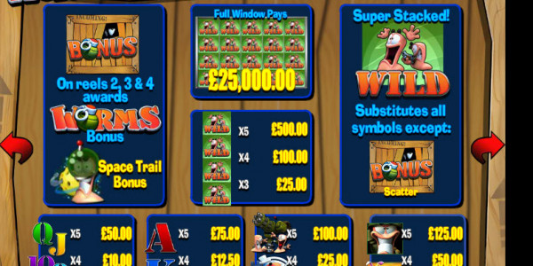 Worms MCPcom  Blueprint Gaming pay