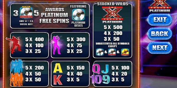 X Factor Platinum MCPcom  Blueprint Gaming pay
