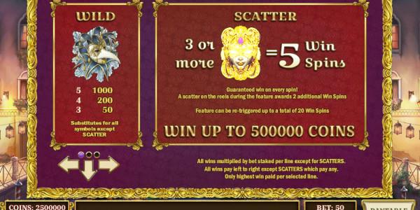 Royal Masquerade MCPcom Play'n GO pay
