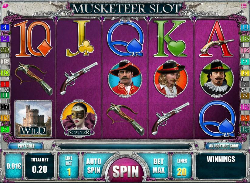 Musketeer Slot MCPcom iSoftBet