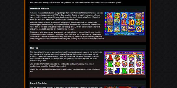 Casino Action MCPcom games