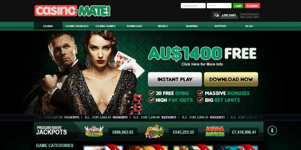 Casino Mate MCPcom home