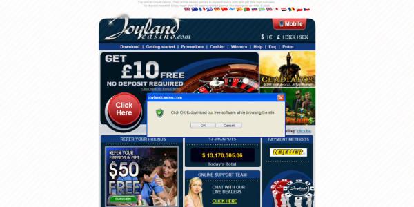 Joyland Casino MCPcom home