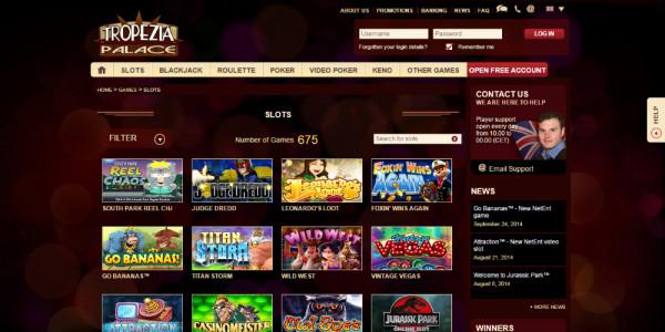 Tropezia Palace Casino MCPcom games