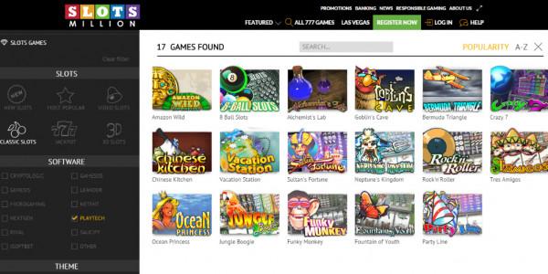 SlotsMillion Casino MCPcom games3