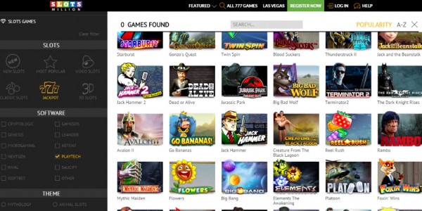 SlotsMillion Casino MCPcom games5