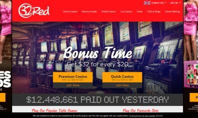 32 Red Casino MCPcom home