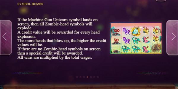 Machine Gun Unicorn Video slots by Genesis Gaming MCPcom pay2