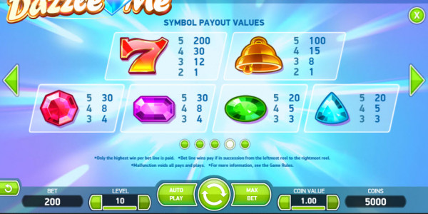 MCPcom1Dazzle Me Video Slot by Netent MCPcom pay2