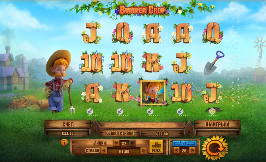 Bumper Crop Video Slots by Playson MCPcom