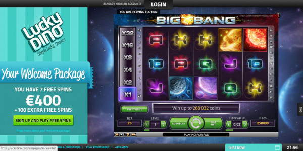 LuckyDino Casino MCPcom games