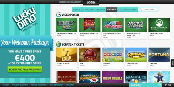 LuckyDino Casino MCPcom games5