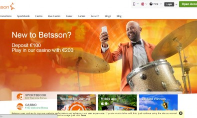 Betsson Casino MCPcom home