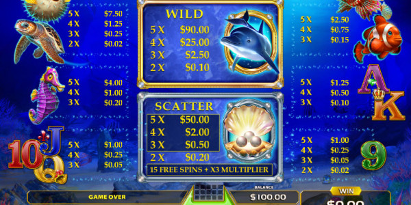 Wild Dolphin Video Slots by GameArt MCPcom pay