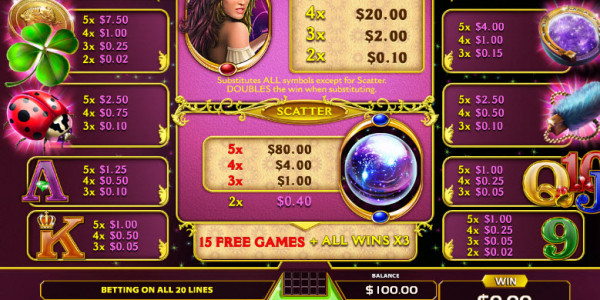 Lady Luck Video Slots by GameArt MCPcom pay