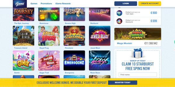 iGame Casino MCPcom games