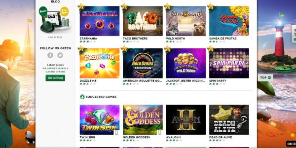Mr Green Casino MCPcom games