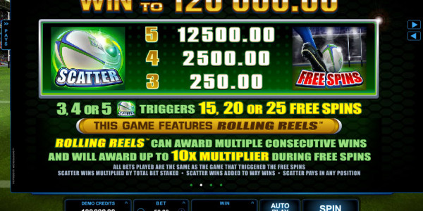 Rugby Star Video slots by Microgaming MCPcom pay