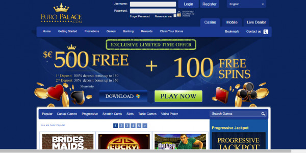 Casino Euro MCPcom home